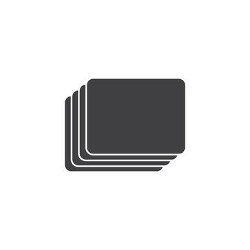 card stack symbol decoration vector