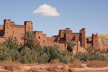 Foto auf Acrylglas Marokko The impressive mud structures and buildings of Ait Benhaddou in Morocco