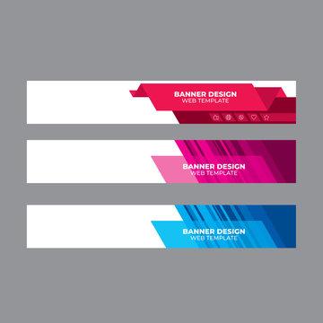 Web banner design, template header for site
