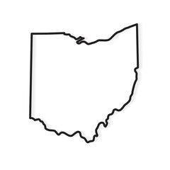 outline of Ohio map- vector illustration
