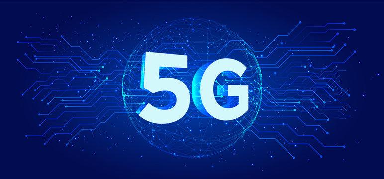 5G network wireless technology vector illustration