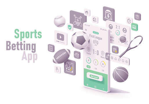 Vector sports betting app concept