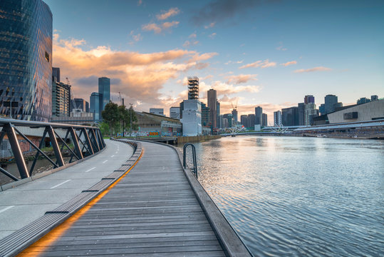 Yarra river in Melbourne Victoria