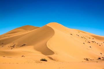 Famous dunes Erg Chebbi in Morocco, near Merzouga