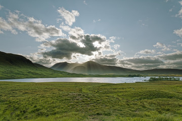 Foto op Aluminium Groene koraal Glencoe Valley, The Highlands, Scotland, United Kingdom