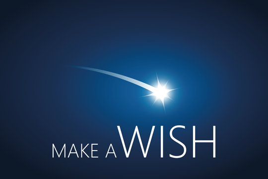 make a wish with falling star in the sky vector illustration EPS10