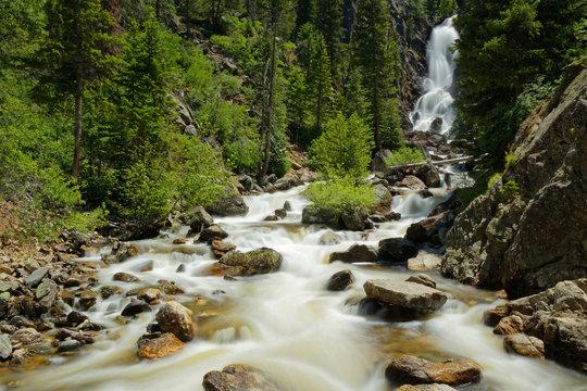 Fish Creek Falls near Steamboat Springs in Colorado