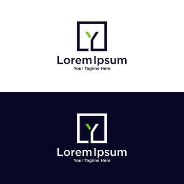 Y M R logo design vector icon template
