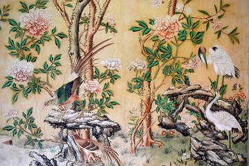 Fototapeta painted chinese wallpaper obraz