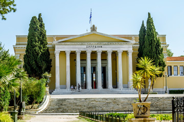 The Zappeion Palace in Athens on a bright Sunny day.
