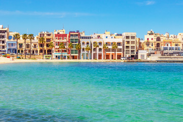 Pretty Bay beach in Birzebbuga, Malta Fototapete