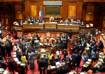 General view of the Senate hall as the Italy's government to face Senate confidence vote on security and immigration decree in Rome