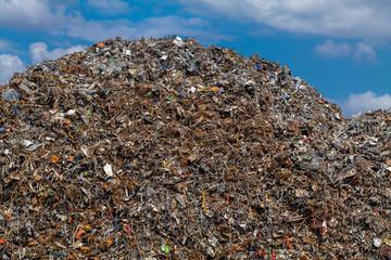 Pile of scrap metal.