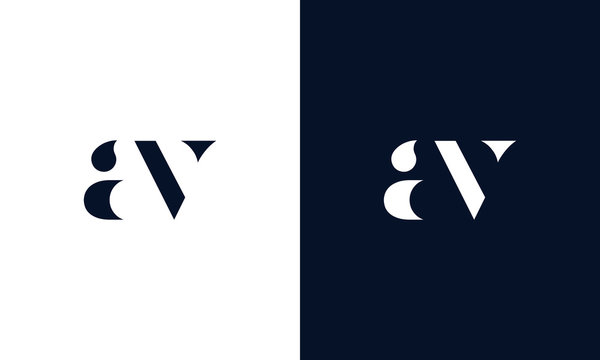 Abstract letter AV logo. This logo icon incorporate with abstract shape in the creative way. It look like letter AV.