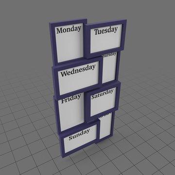 Modern weekly planner