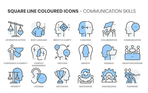 Law dictionary related, square line color vector icon set for applications and website development. The icon set is pixelperfect with 64x64 grid. Crafted with precision and eye for quality.