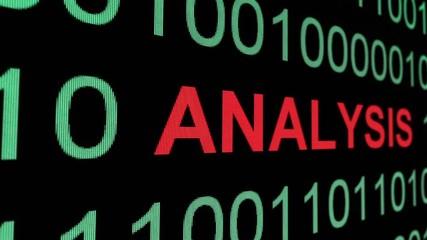 Wall Mural - Web analysis text on binary data