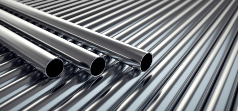 Stainless steel tubes.