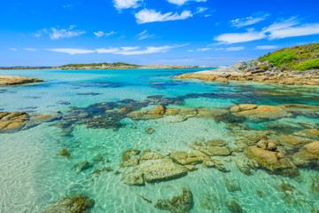 William Bay National Park, Denmark and Albany Region, Western Australia. Scenic landscape of sheltered waters of Madfish Bay surrounded by rock formations. Popular summer destination in Australia.