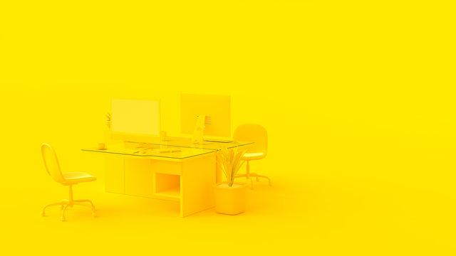 Yellow office.