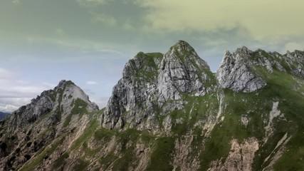 Wall Mural - Slovenian Mountain Landscape Aerial Footage. Julian Alps Region.