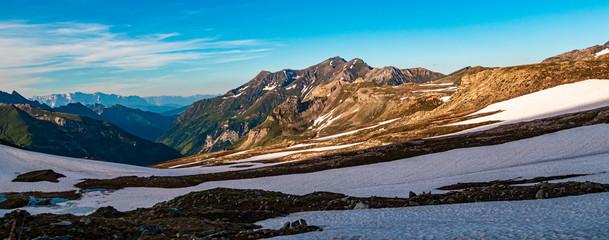 Beautiful alpine view at the famous Grossglockner High Alpine Road, Salzburg, Austria