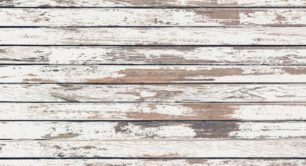 wood board white old style abstract background objects for furniture.wooden panels is then used.horizontal	 Wall mural