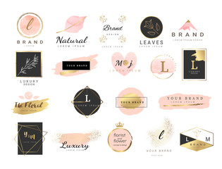 Logo watercolor background banner