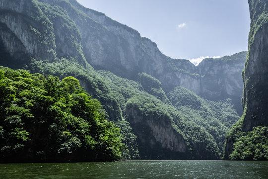 Sumidero canyon in Chiapas Mexico