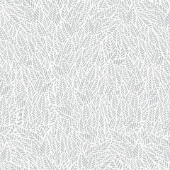 Vector seamless pattern. Gentle neutral natural botanical stylish background with graphic hand drawn leaves. White and light-gray foliage background. Repeating trendy print for print and cloth,