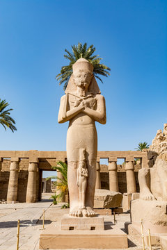 Statue of Ramses the Great (Ramses II) in Karkan Temple, Luxor, Egypt