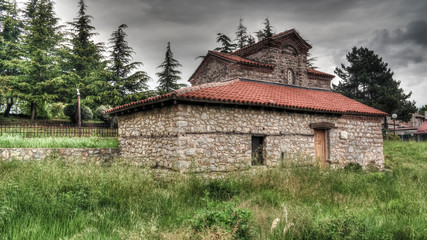Exterior view to Saints Constantine and Helen Church , Ohrid, North Macedonia