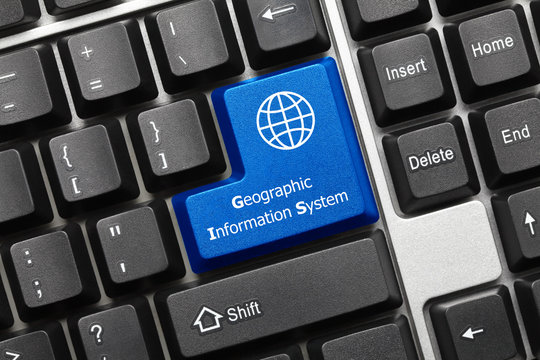 Conceptual keyboard - Geographic Information Sysytem (blue key)