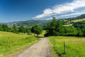Mountain landscape along Brattello pass