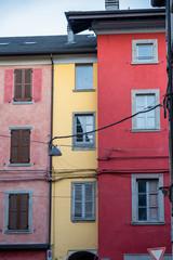 Old typical buildings of Borgotaro, Parma