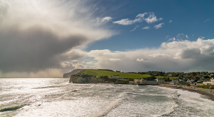 Approaching Rain at Freshwater Bay, Isle of Wight