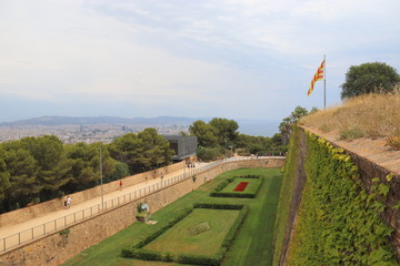 Wall Mural - Barcelone - Château de Montjuïc