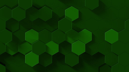 honeycomb green carbon abstract background 4k resolution Wall mural