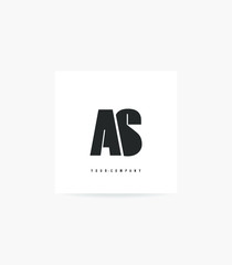 Fototapeta Letters A S logo icon vector for business card and corporate identity. obraz