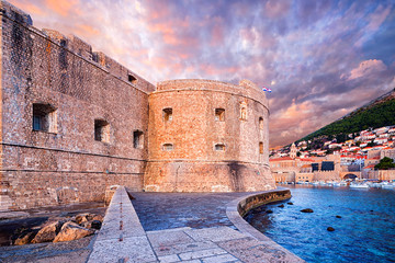 Wall Mural - the Fortress of St. John (Mulo tower) - fortress controlling and protecting the entrance of the port of Dubrovnik. Croatia..
