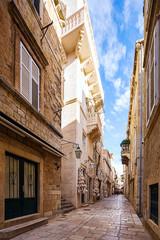 Wall Mural - Street scene in old part of Dubrovnik, Croatia.