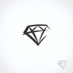Diamond collection set. Collection icon diamonds. Vector