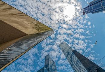 Foto auf Leinwand Rotterdam Rotterdam zwischen HOchhäusern