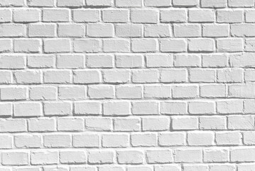 White clean brick wall, as texture, background or backdrop, high resolution picture