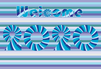 Welcome 2020 illustration vector greeting