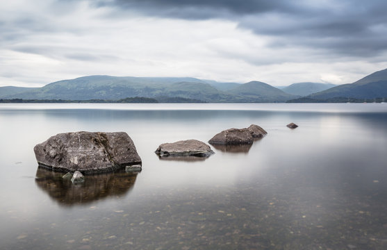 Loch Lamond Lake Rocks