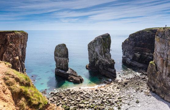 Stacks Rocks, Pembroke, Wales