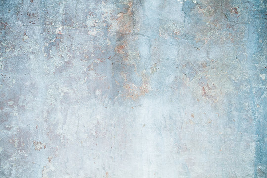 Old distressed blue wall detail