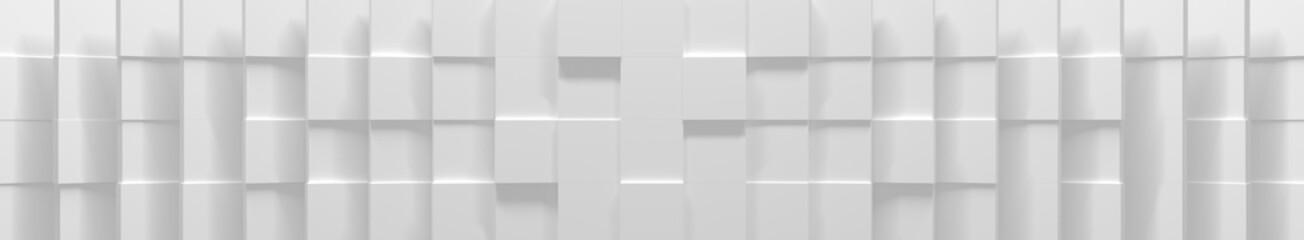 Wide White Cube Background (Website Head) (3D Illustration) Fototapete