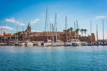 Alghero city in Sardinia, Italy.